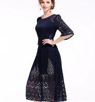 2017 New Fold Skirt Elegant Lace Fashion Women S Pleated Dress