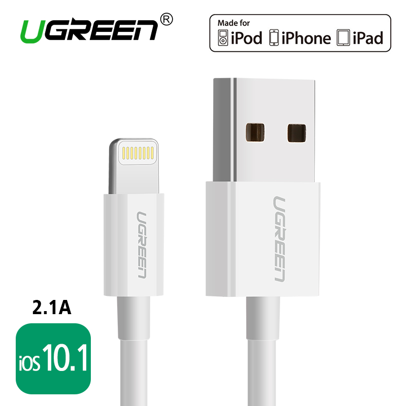 For MFi iPhone Cable 2m 1m iOS10 1 Ugreen 2 1A Fast Mobile Phone Lightning to