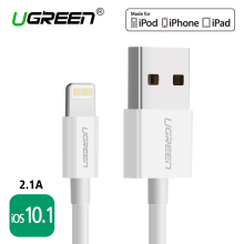 For MFi iPhone Cable 2m 1m iOS10.1,Ugreen 2.1A Fast Mobile Phone Lightning to USB Charger Data Cable for iPhone 6 iPad Air iPod