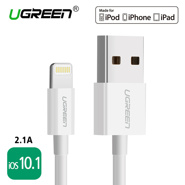 Ugreen usb-kabel für iphone 6 7 ipad ipod 2.1a schnelle telefon blitz...