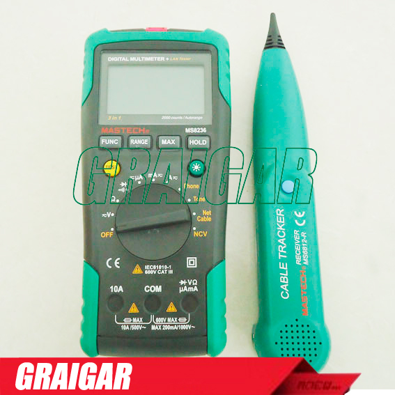 MASTECH MS8236 Autoranging Digital Multimeter LAN Tone Phone Detector Cable Tracker Voltage Tester цена и фото