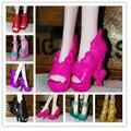 10 Pares/lote Top Venda Barato Mini Acessórios Da Boneca Da Moda Estilo Misto de Alta Calcanhar Sapatos Boneca Monstro 1/6 Atacado