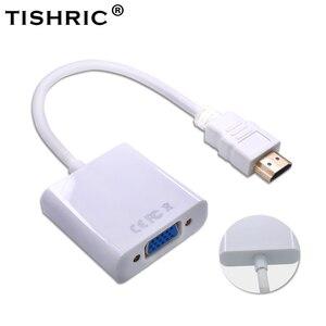 Image 2 - Conversor de vídeo 1080p digital para hdmi2vga analógico para computador portátil/pc tishric hdmi para vga cabo macho para adaptador fêmea