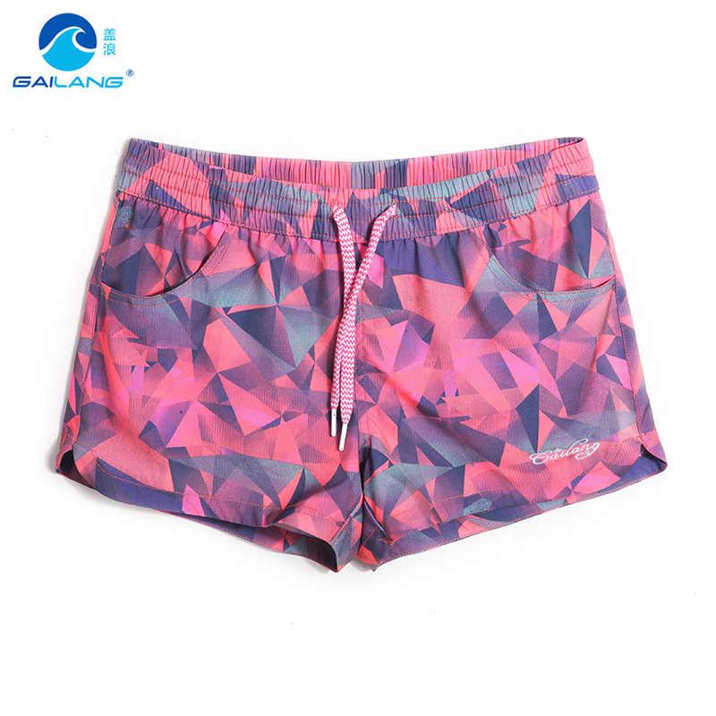 155573b507 Women board shorts swimming trunks female swimsuits loose sexy short  Geometric patterns running shorts joggers bodybuilding
