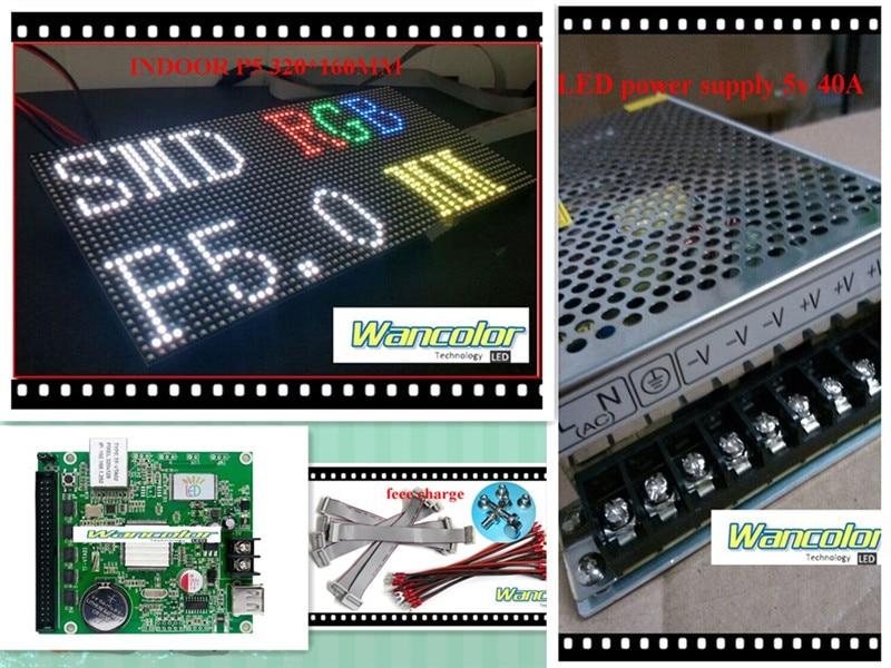 free shipping DIY LED display 1 sqaure meter 18 pcs P5 indoor Full Color Led Module
