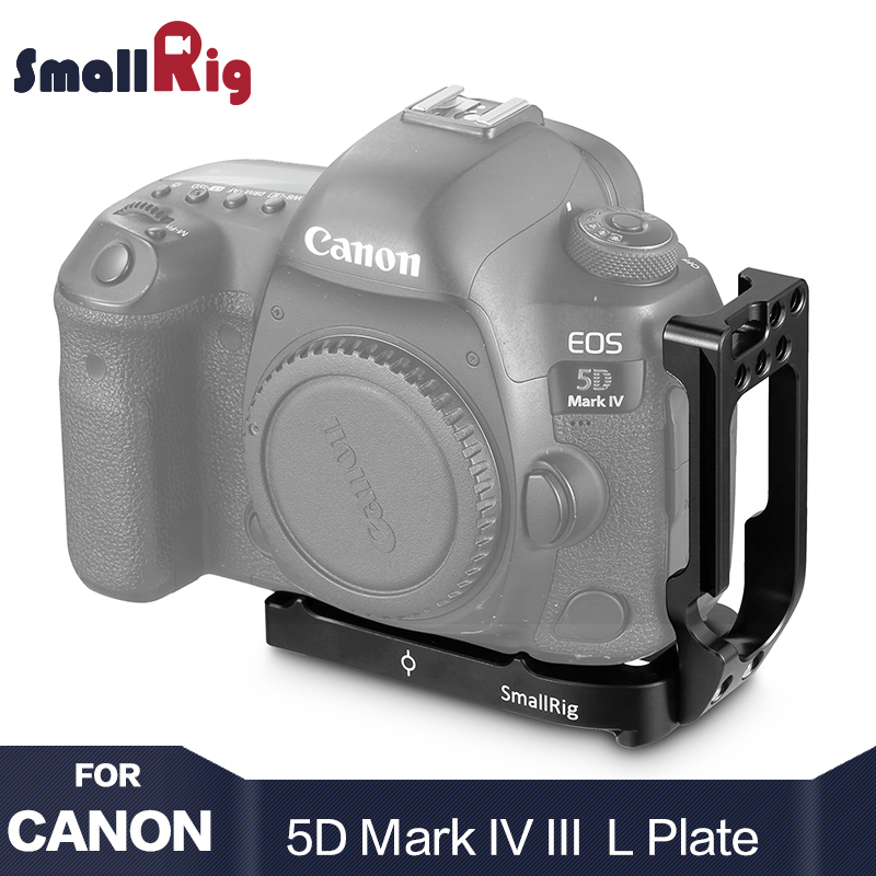 Smallrig 5D Mark 4 Camera L Plate L-Bracket for Canon 5D Mark IV / Mark III With Quick Release Arca Style Camera Plate 2202 jintu photo qr quick release l plate bracket camera vertical grip for canon 5d mark iv 5d4 5div arca swiss ass rrs benro fotopro