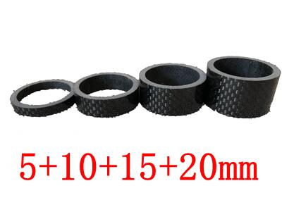 4PCS full carbon fiber bicycle carbon spacer hollow Ultra light headset parts cycling Washer Bike Bicycle Headset Stem Spacers
