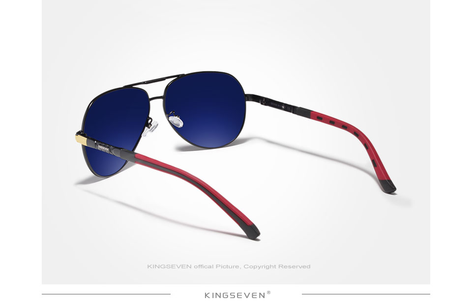 KINGSEVEN Brand Men's Aluminum Magnesium Sun Glasses Polarized UV400 Sun Glasses oculos Male Eyewear Sunglasses For Men N725