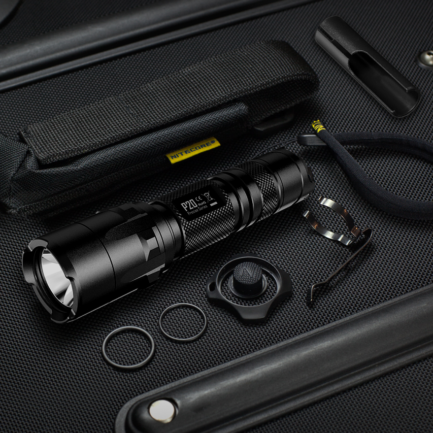 NITECORE P20/P20UV Strobe Ready Tactical LED Flashlight 800Lumen Waterproof Outdoor Camping Hunting Portable Torch+Free Shipping 2017 new nitecore p12 tactical flashlight cree xm l2 u2 led 1000lm 18650 outdoor camping pocket edc portable torch free shipping