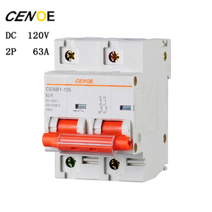 Image 4 - free shipping 2p DC120V 63A 80A 100A 125A DC circuit breaker mcb breaker for global electrically driven vehicle user 2018 newly