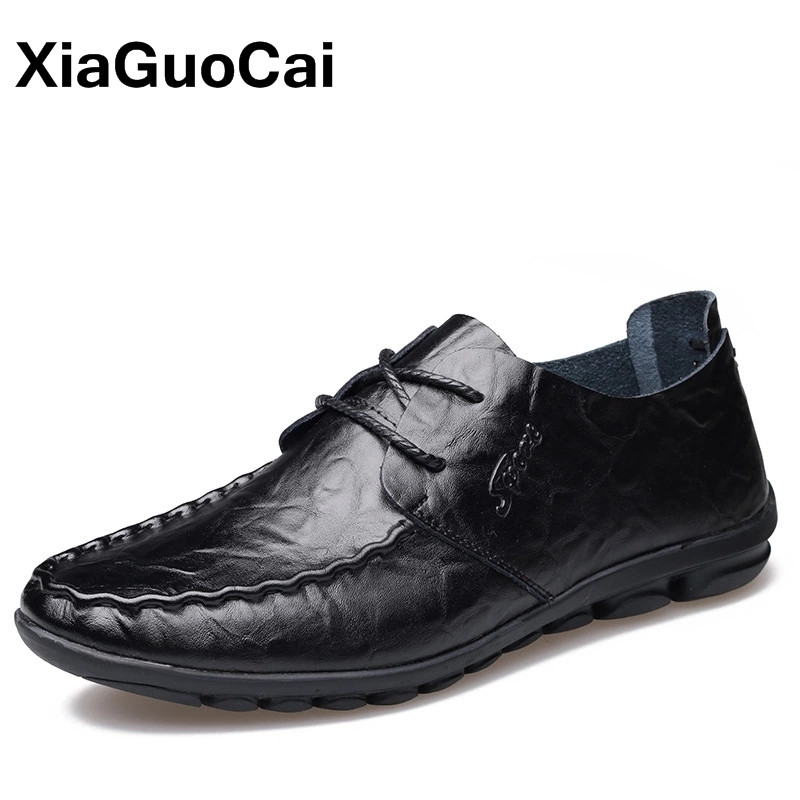 XiaGuoCai Autumn Male social shoe Breathable Men Casual Shoes Soft Sole Driving Doug Shoes Fashion Moccasins Boat Shoes For Men in the spring of 2017 the new england doug shoes breathable casual shoes set foot lazy sailing shoes driving shoe
