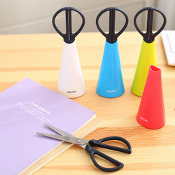1 Pc/Lot Cute Colorful Innovative Creative Scissor with Base for School Stationery & Office Supply