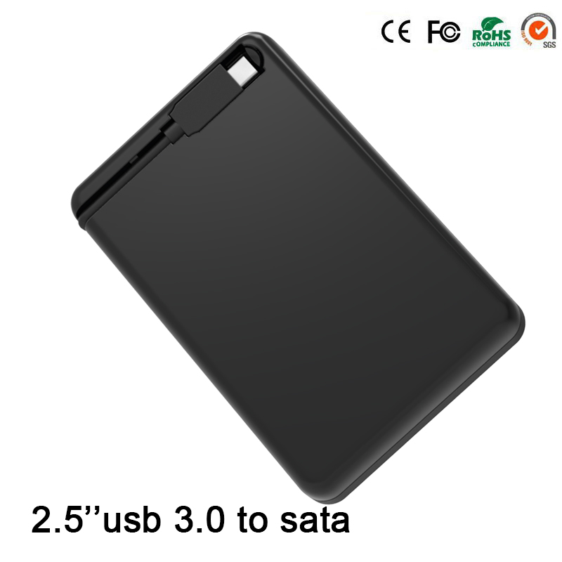 Hot Sell Black Portable Tool Free CLE USB 3.0 External Hard Driver Cases 2.5''  SATA Adapter DVD HDD Enclosures Blueendless