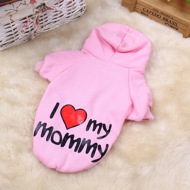Warm Pet Dog Clothes Small Dog Coats Jackets Winter Pet Clothing Puppy Hoodie Shirts Chihuahua Clothes Pink 9AY15