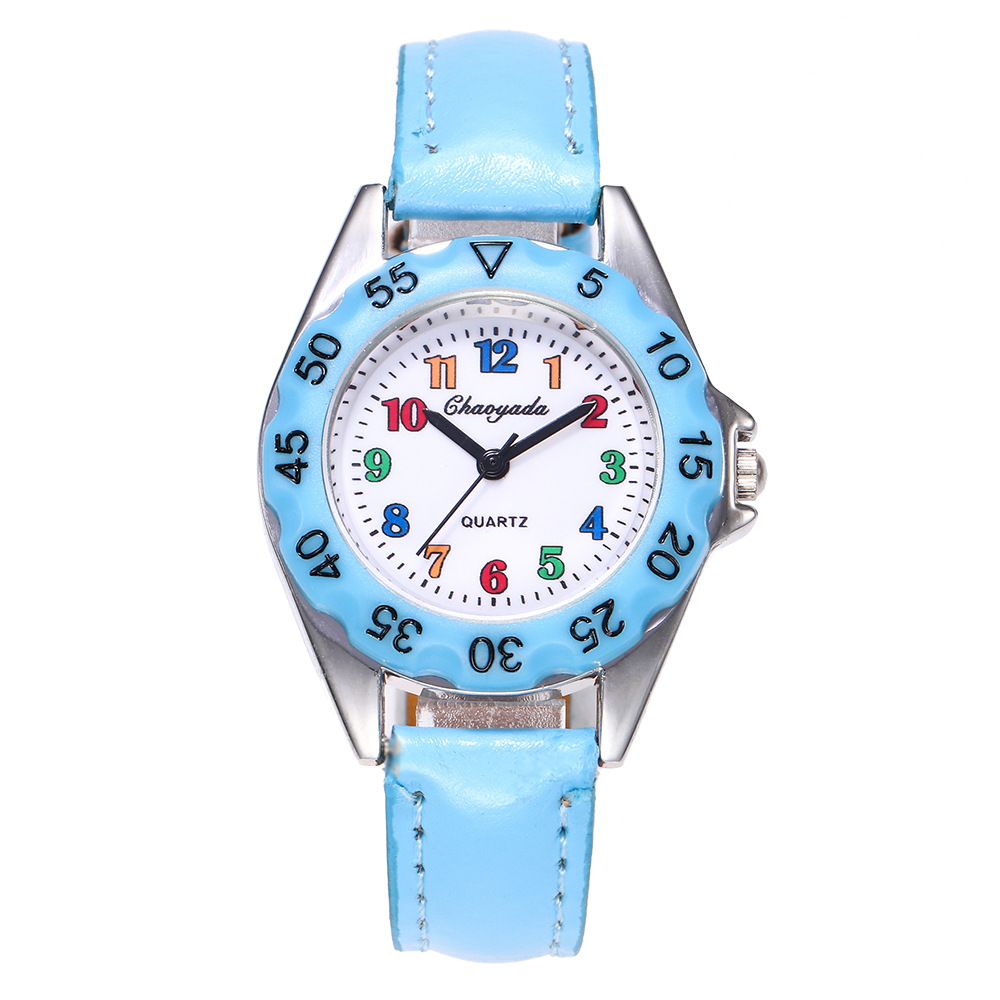 2019 New Fashion Children\'S Watches For Boys/Girls Cute Carton Watch Kids Sports Quartz Wristwatches Leather Student Clock Gift