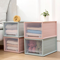 Home draw out multi layer bin clothing receive a case plastic transparent clothes box store content box