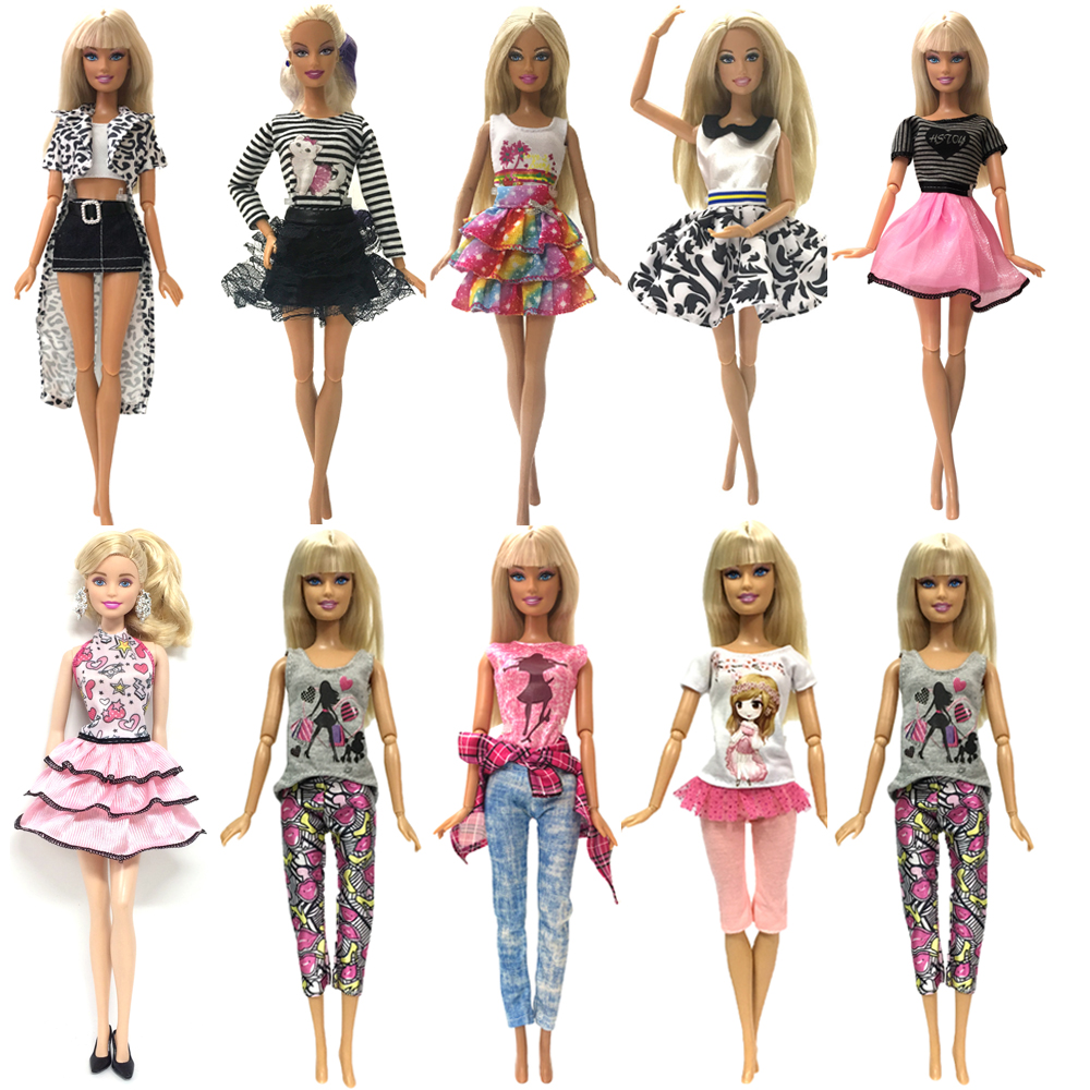 NK 2020 1x Doll Dress Daily Casual Wear Tops Blouse Fashion Pants Skirt Clothes For Barbie Doll Accessories Baby Toy  G3 JJ