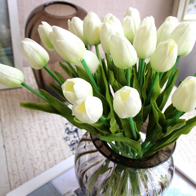 10 шт. искусственного шелка PU тюльпаны поддельные artificiales букеты вечерние Декор тюльпаны свадебные декоративные цветы