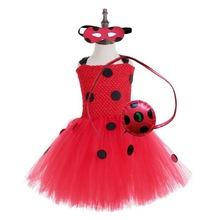 Girls Ladybug Costume Baby Girl Birthday Party Tutu Dress Kids Halloween Lady bug Outfit Ladybird Fancy