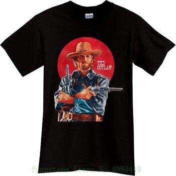Nowy Clint Eastwood Outlaw zachodni kowboj film czarny T Shirt Tee Sz S - 3xl bawełna Cartoon t-shirty klasyczne