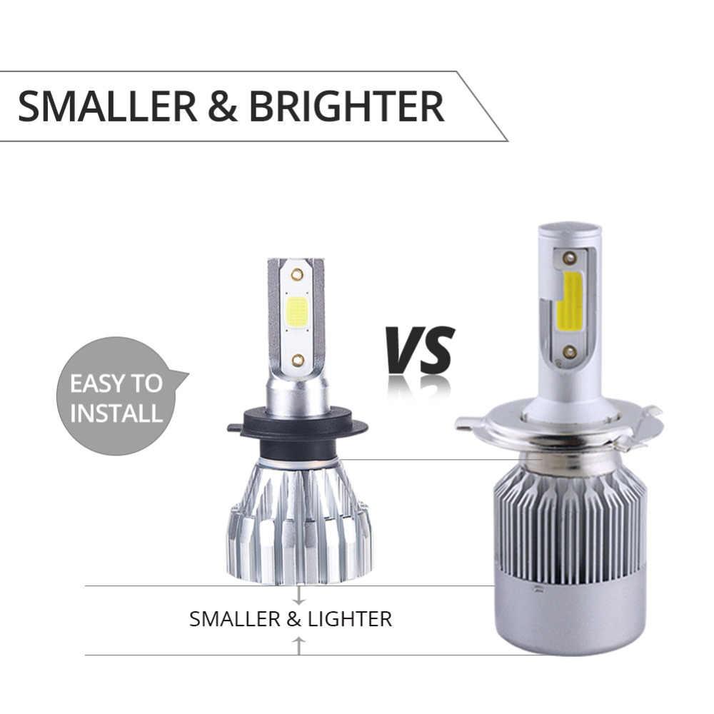VooVoo 2Pcs Fanless H7 H1 Led H3 H4 H11 9005 9006 9012 HIR2 6500K 4300K Mini Car Headlight Bulbs 50W 5000LM Auto Headlamp Lights