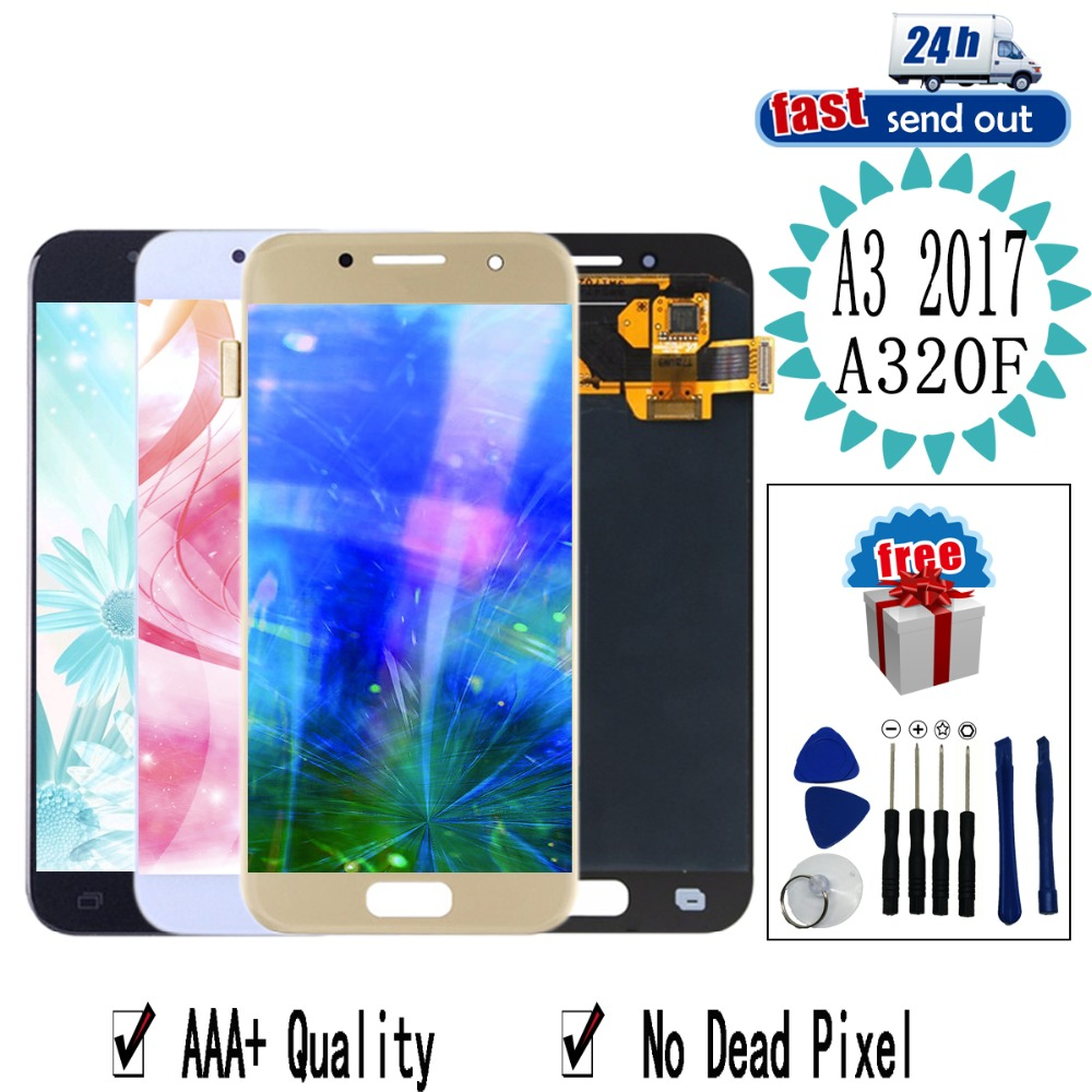 4.7'' <font><b>AMOLED</b></font> LCD For SAMSUNG Galaxy A3 2017 <font><b>A320</b></font> LCD Display A320F Touch Screen Tested Digitizer Assembly image