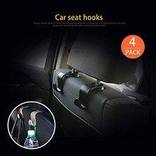 4 упаковки автомобиля подголовник автомобиля Органайзер вешалка крюк для хранения для продуктовая сумка Автомобиль Стайлинг Прямая# P1