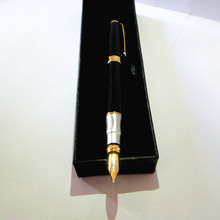 Great quality Fountain Pen 40g/pc in black color with cute gift box wholesale executive gifts can custom your company brand