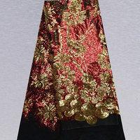 Artikelnummer SFN30 hoge kwaliteit afrikaanse tule kant stof mooie dame jurk, populaire franse kant stof koop gratis verzending