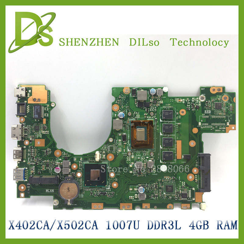 KEFU X402CA For ASUS X502CA X402CA laptop motherboard X502CA new motherboard rev2.0 4G RAM 1007u DDR3L 100% tested relouis блеск для губ la mia italia тон 05
