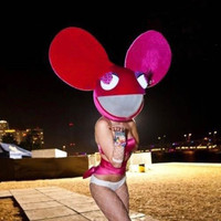 LED DJ Rabbit Helmet Deadmau bunny Mask party dead mouse glow in the dark led neon masks maske Mickey Daft Sexy Punk