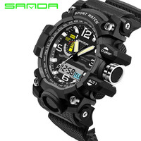 2017 New SANDA Men S Watch Men Waterproof Sports Digital Watches S Shock Army Military Sport