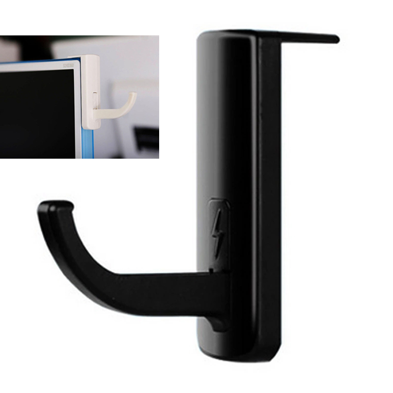 1PC New Headset Stand Holder Rack Universal Headphone Hanger Stand Hook Wall Hook PC Monitor Display Stand