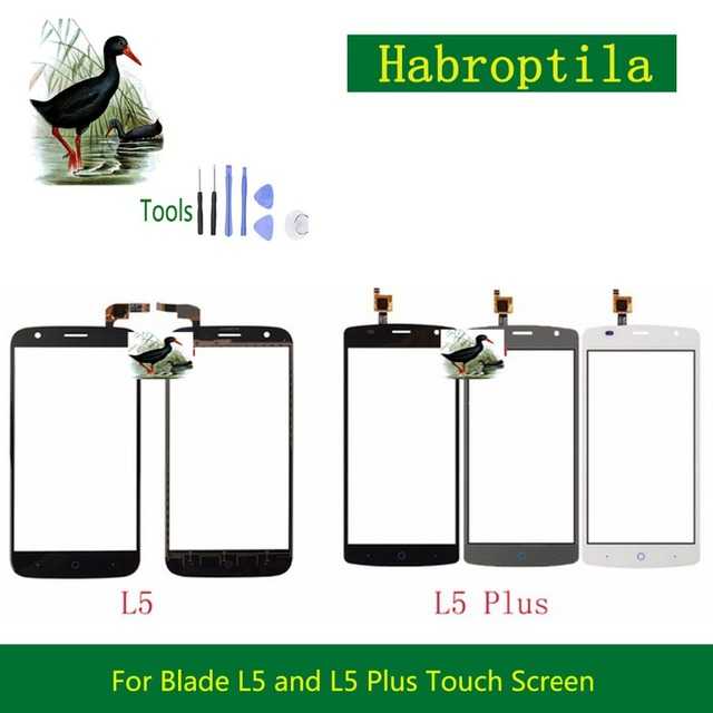 "10Pcs/lot High Quality 5.0"" For ZTE Blade L5 and L5 Plus Touch Screen Digitizer Sensor Front Glass Lens Panel Black White Gray"