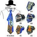 """Nueva 4 Pulgadas de Ancho 17 Fashion """"Música Guitarra/Violin/Sachs/Suona/Tambores"""" Diseño de La Mezcla Partido Corbata de poliéster Tejido Classic Men's Corbata de regalo"""
