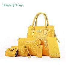 Frauen handtasche vorhanden 5 stücke tasche gelb/rot/dunkelblau/schwarz/rose rot/beige 6 farbe wählen super wert totes