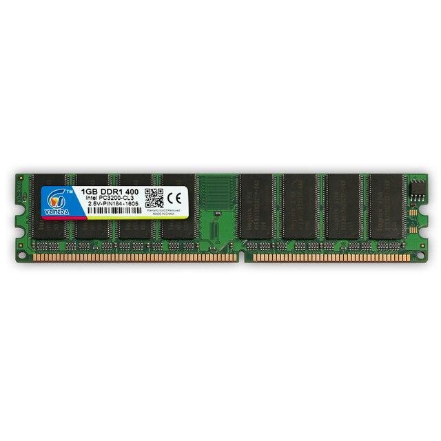 VEINEDA DDR 400 4 Гб 4x1 ГБ PC3200 400 МГц 184pin ddr1 полиэтилен низкой плотности Desktop Memory 2Rx8 CL3 DIMM совместимый ddr333 pc2700 1