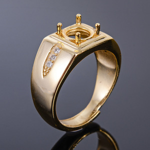Image 4 - MeiBaPJ 7mm Natürliche Citrine Runde Edelstein Mode Ring/Leere Unterstützung für Männer Echt 925 Sterling Silber Feine Charme schmuck