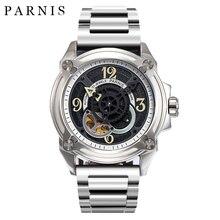 44mm Parnis Skeleton Men Watch Luxury Brand Mechanical Watches