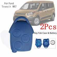 2 шт. 3 Пуговицы дистанционного брелок случае В виде ракушки с vl2330 Батарея для Ford Transit Mk7