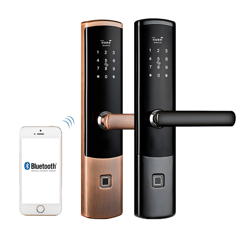 Fingerprint Door Lock, Electronic Door Lock Bluetooth App with Wifi Digital Smart Keyless Keypad Door Lock Security For Home smart door lock electronic fingerprint door lock control digital keyless door lock biometric keypad double sided door lock