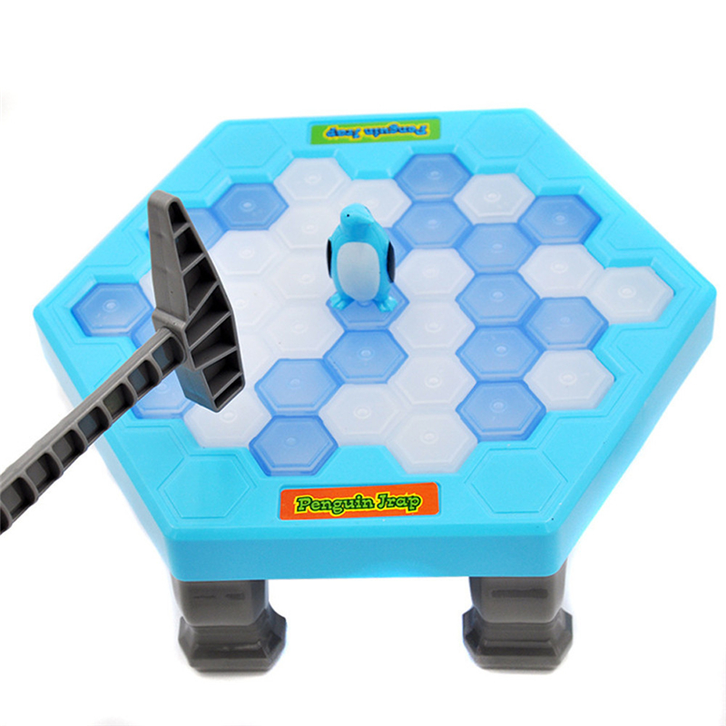 Hot Sale Penguin Ice Kids Puzzle Game Break Ice Block Hammer Trap Party Toy Great Sports Toys For Children Exercise Drop Ship