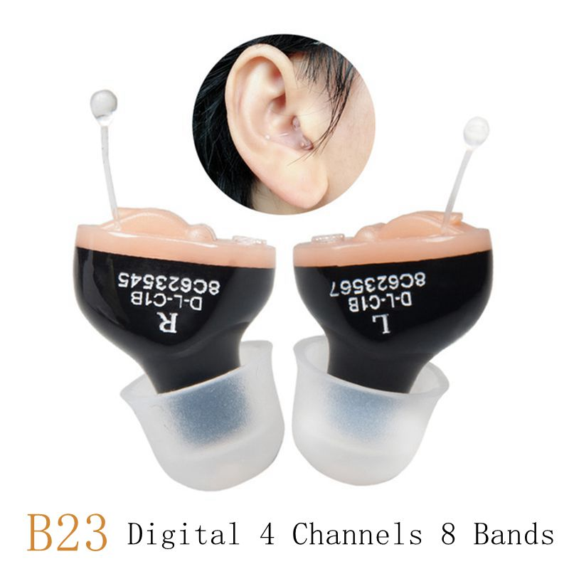 CIC Digital 4 Channels 8 Bands Hearing Aid Mini Tuneable Sound Amplifier In The Ear Portable Invisible Hearing Aids A10 BatteryCIC Digital 4 Channels 8 Bands Hearing Aid Mini Tuneable Sound Amplifier In The Ear Portable Invisible Hearing Aids A10 Battery