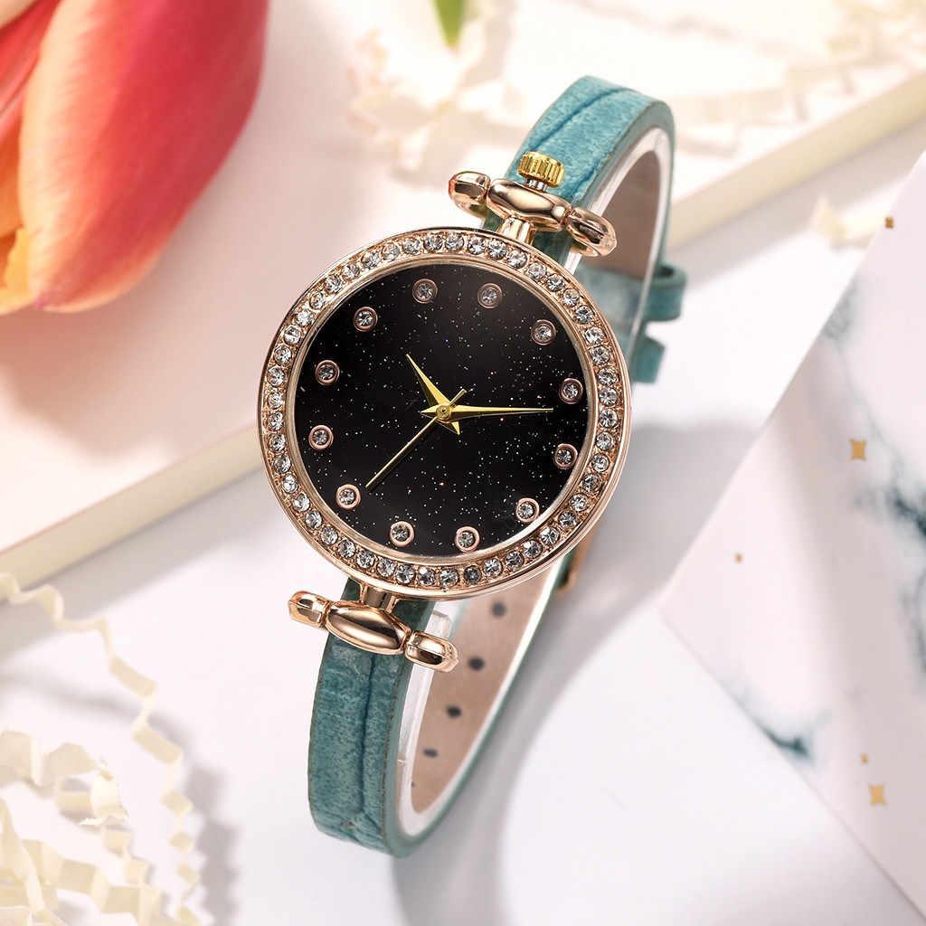 אופנה גברת חלבית חיוג לב צורת דפוס חגורת עור שעון קוורץ שעון קוורץ שעון מנגנון שקט ביאן kol saati 50