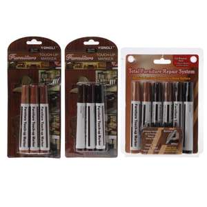 Marker Filler-Sticks Furniture Touch-Up Kit Wood-Repair-System Scratch-Fix Floor