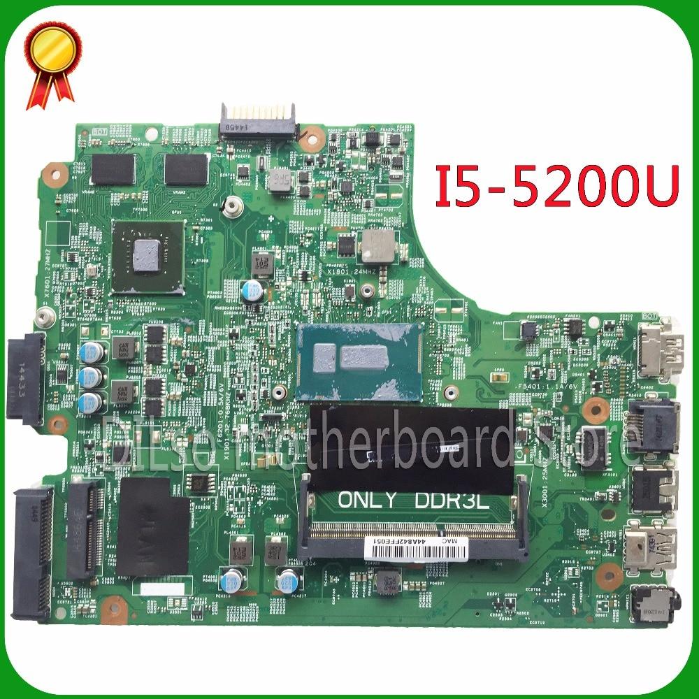 KEFU Pour DELL 3543 DELL 3443 carte mère 13269-1 PWB FX3MC REV A00 carte mère I5-5200u GT820 avec carte graphique travail 100%