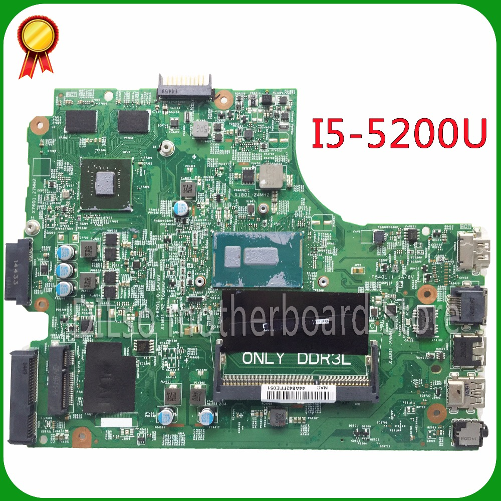 KEFU For DELL 3543 DELL 3443 Motherboard 13269-1 PWB FX3MC REV A00 Motherboard  I5-5200u GT820 With Graphics Card Work 100%