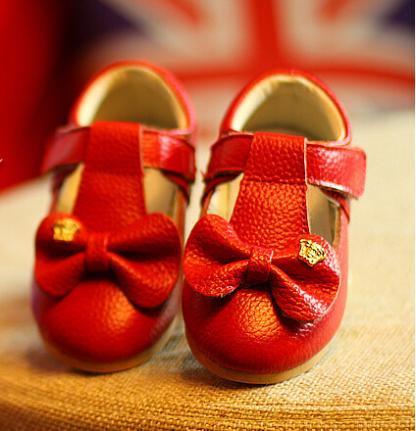 Niños calientes de la venta zapatos de princesa niñas zapatos planos de moda bowknot de cuero suave único zapatos de los niños niñas niño plana