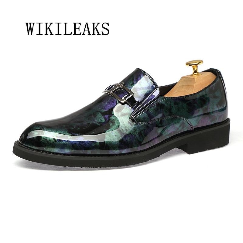 Chaussures de mariage formelles hommes bout pointu chaussures en cuir verni chaussures oxford pour hommes zapatillas hombre décontracté sapato masculino