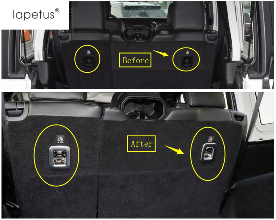 Jeep Wrangler Accessories 2017 >> Lapetus Accessories For Jeep Wrangler JL 4 Door Model 2018 2019 Rear Trunk Tail Seat Backrest ...